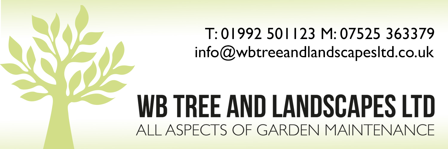 Banner, WB Tree and Landscapes Ltd, Hertford