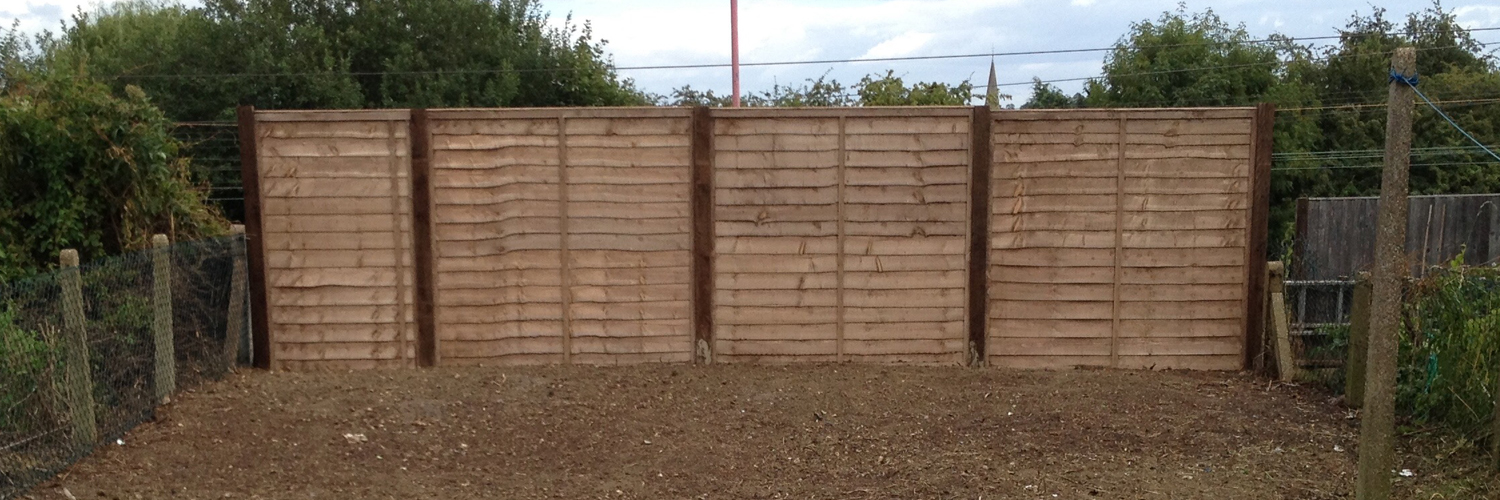 New fencing, WB Tree and Landscapes Ltd, Hertford